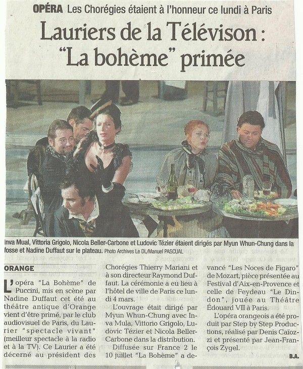 """Article paru hier dans le journal """"Vaucluse Matin"""""""