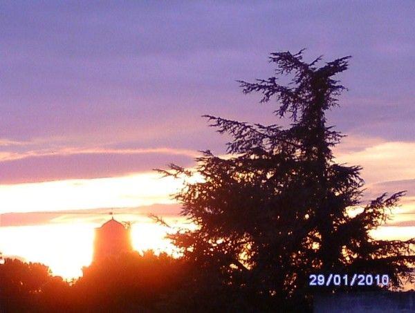 Coucher du soleil vu de mon salon - Heure de coucher du soleil aujourd hui ...