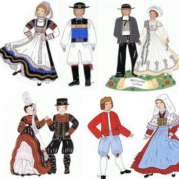 Costumes traditionnels : Bretagne