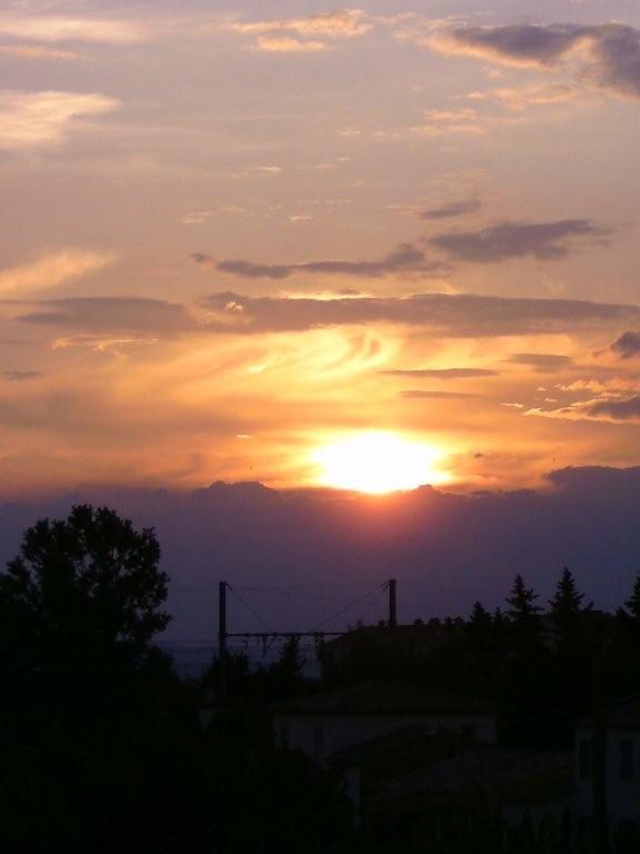 Coucher de soleil vu de mon balcon - Heure coucher soleil aujourd hui ...