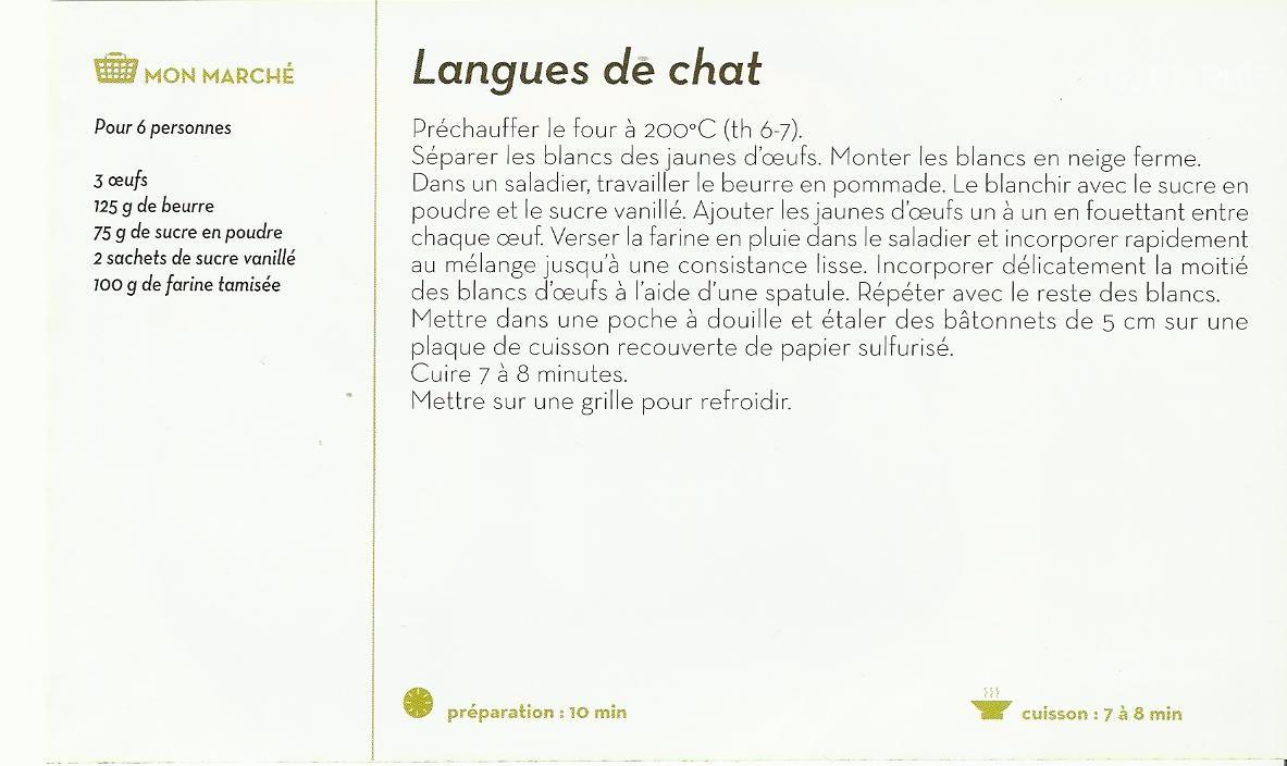 Langues de chat