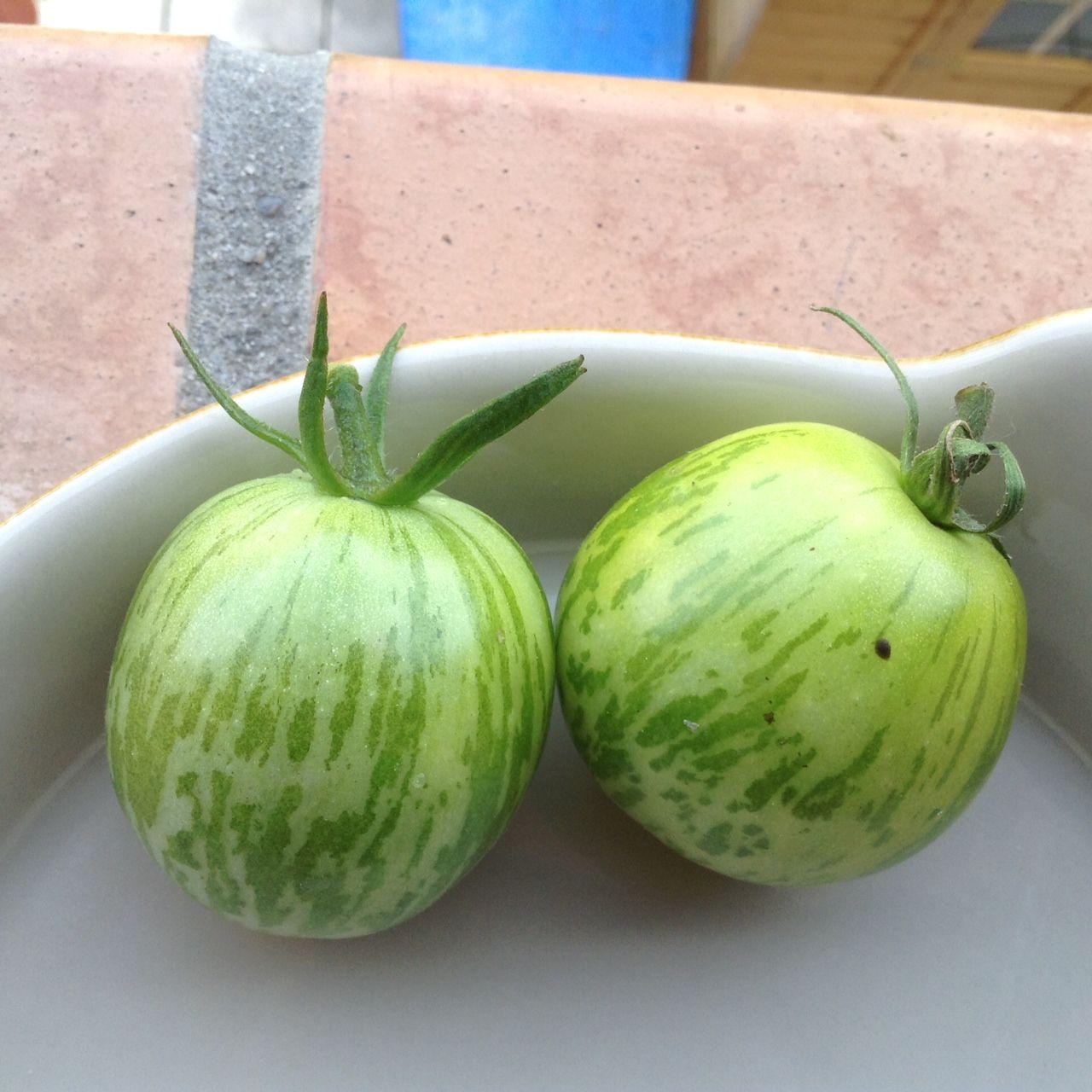 ce matin dans mon jardin tomates green zebra. Black Bedroom Furniture Sets. Home Design Ideas
