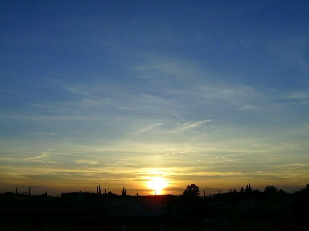 Coucher de soleil vu de mon salon - A quelle heure le soleil se couche aujourd hui ...