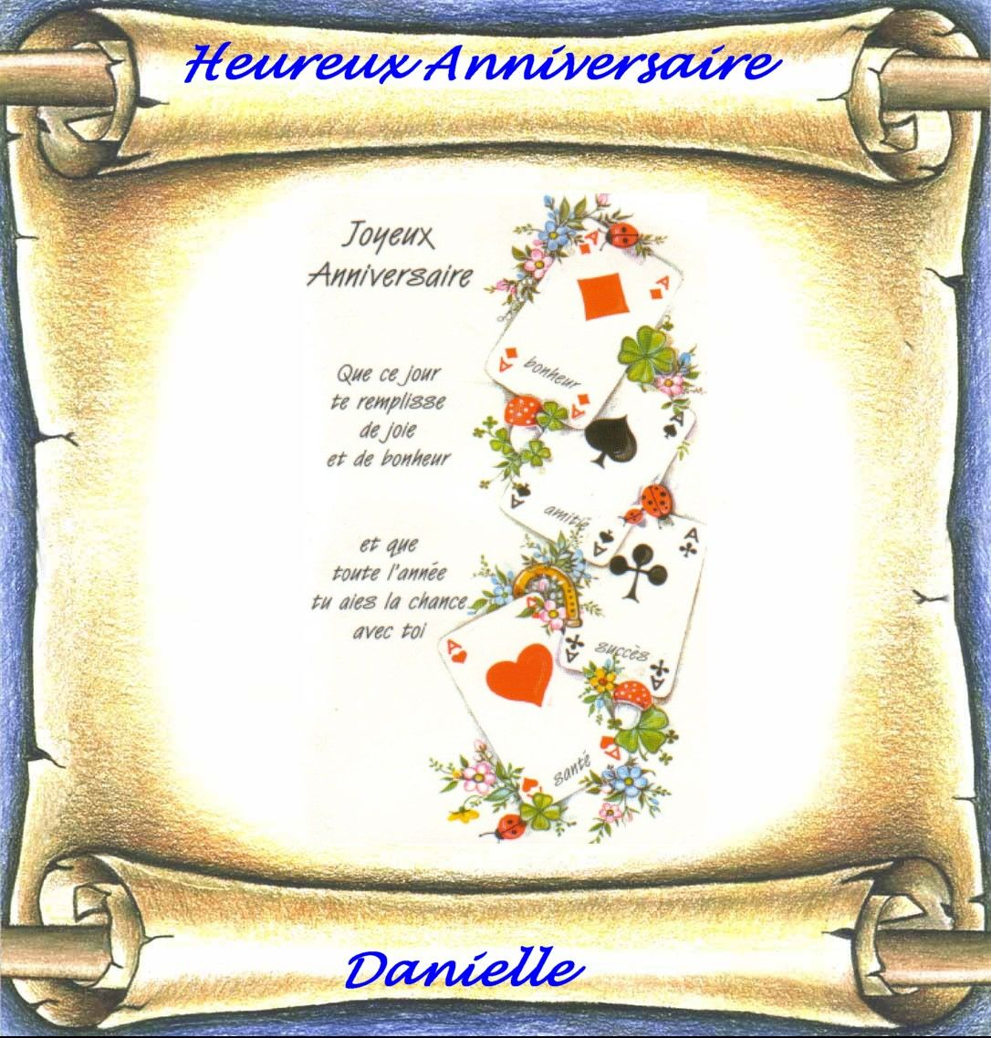 Heureux Anniversaire Danielle